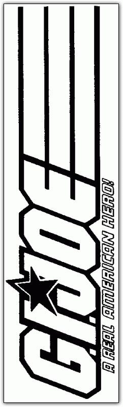 Coloriage et dessins gratuits Logo du film GI-Joe en ligne à imprimer