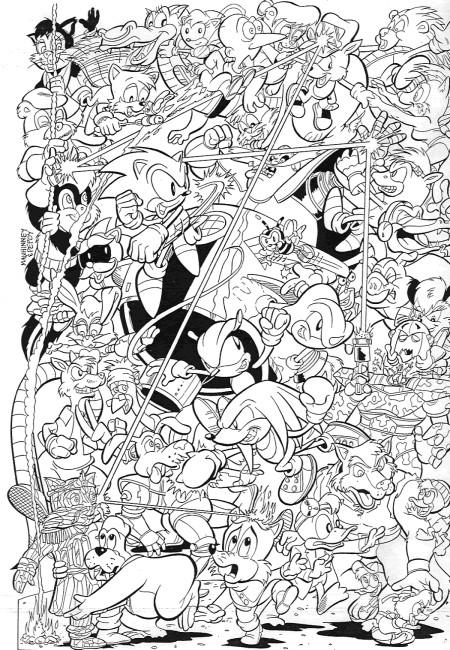 Coloriage sonic gratuit imprimer en ligne - Dessin anime sonic ...