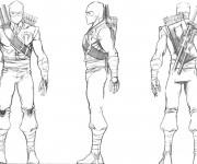 Coloriage et dessins gratuit Un soldat masqué à imprimer