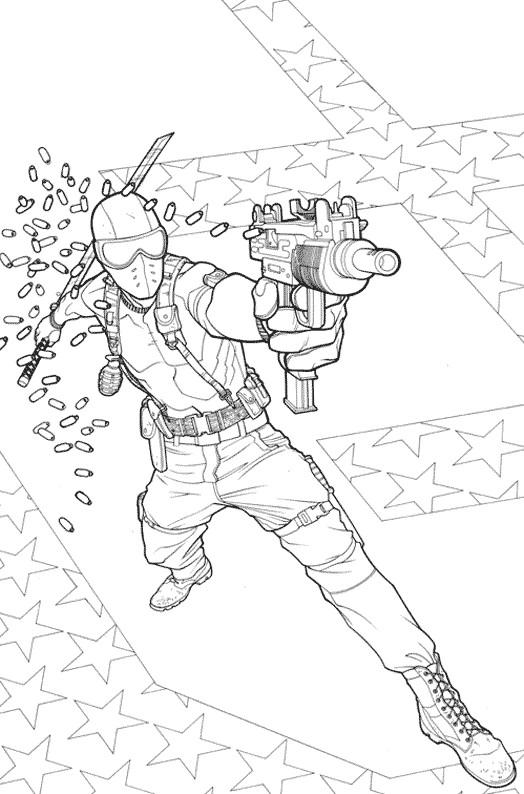 Coloriage Un soldat masqué à colorier