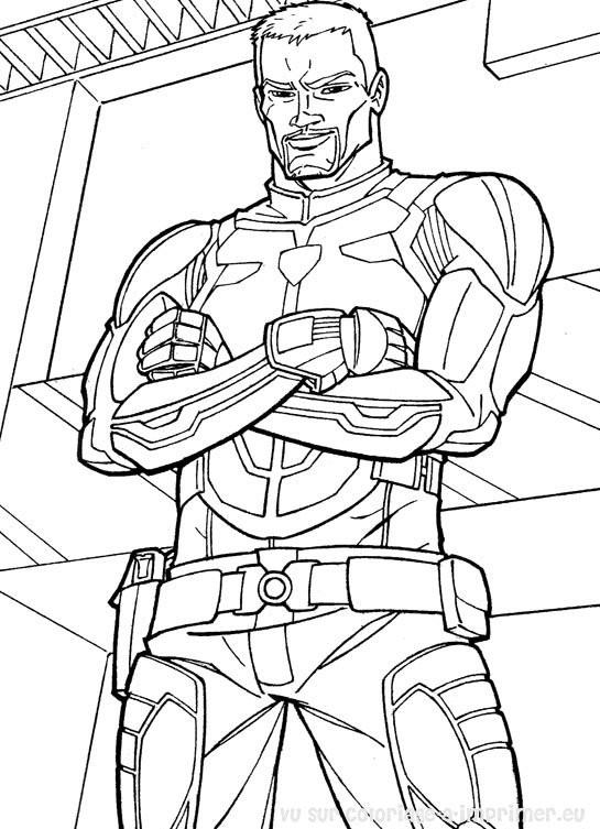 Coloriage et dessins gratuits Un Uniforme spécial du soldat GI-Joe gratuit à imprimer