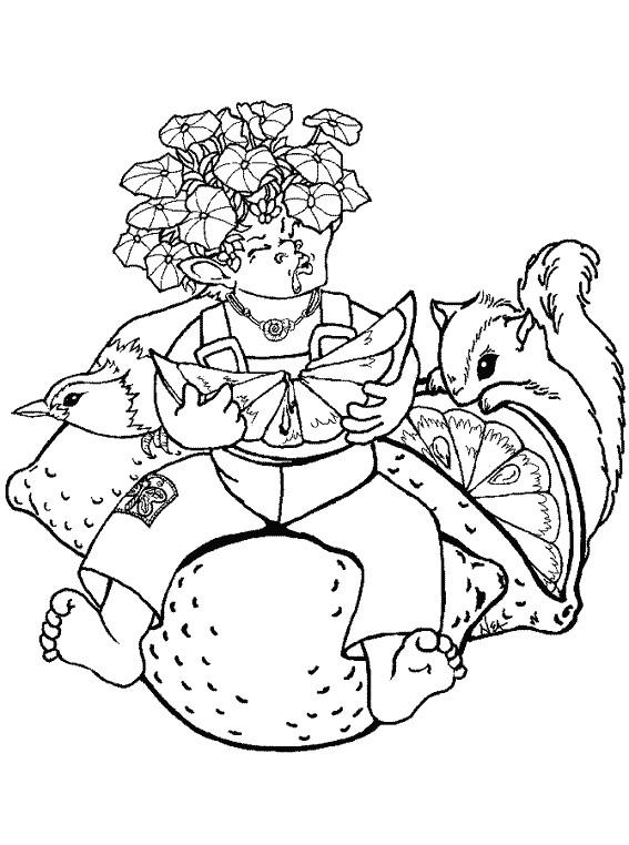 Coloriage et dessins gratuits Gnome mange  du citron à imprimer