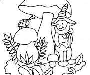 Coloriage et dessins gratuit Gnomes et coccinelle à imprimer