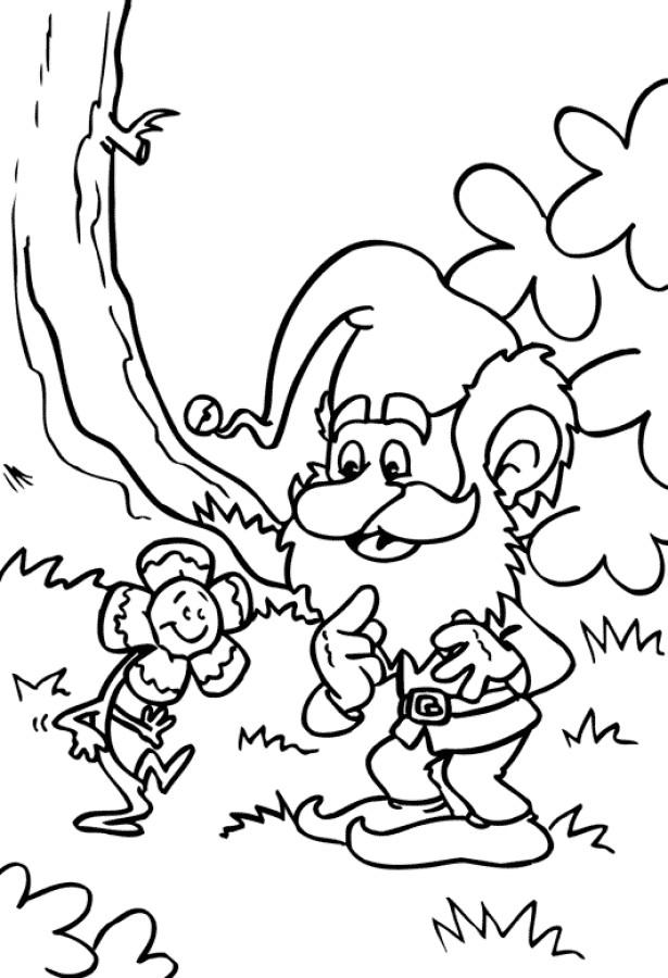 Coloriage et dessins gratuits Gnomes et fleur en couleur à imprimer