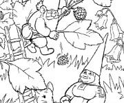 Coloriage et dessins gratuit Gnomes et la mûre en ligne à imprimer