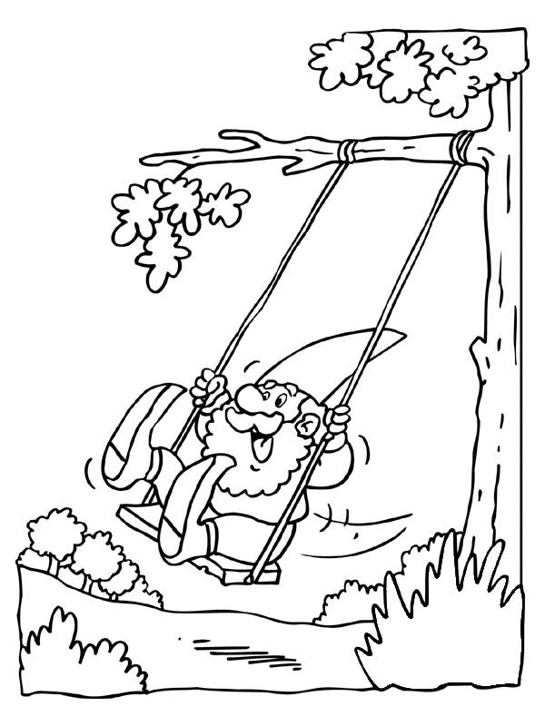 Coloriage et dessins gratuits Gnomes joue humoristique à imprimer