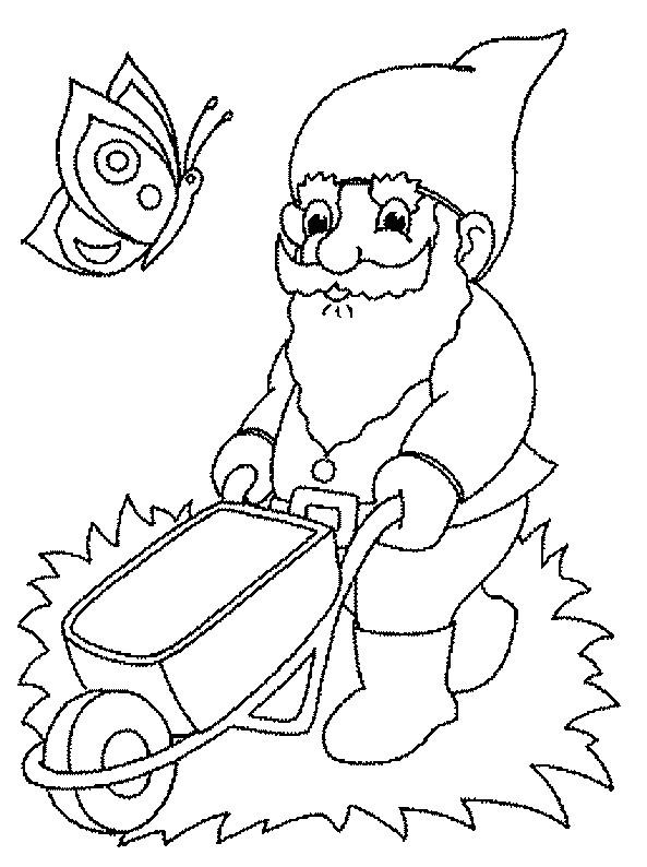 Coloriage et dessins gratuits Gnomes travaille facile à imprimer