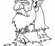Coloriage et dessins gratuit Gnomes vieux à imprimer