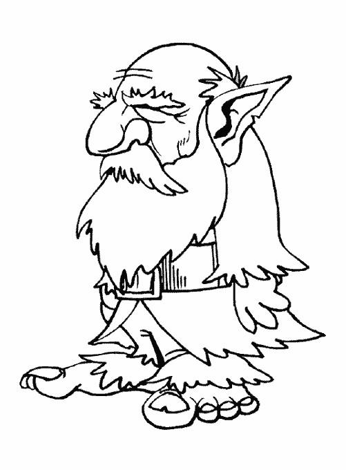 Coloriage et dessins gratuits Gnomes vieux à imprimer