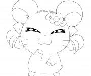 Coloriage et dessins gratuit Hamster Hamtaro à imprimer