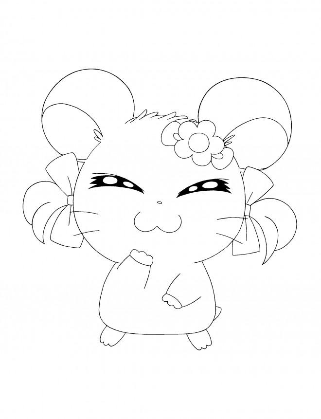 Coloriage et dessins gratuits Hamster Hamtaro à imprimer