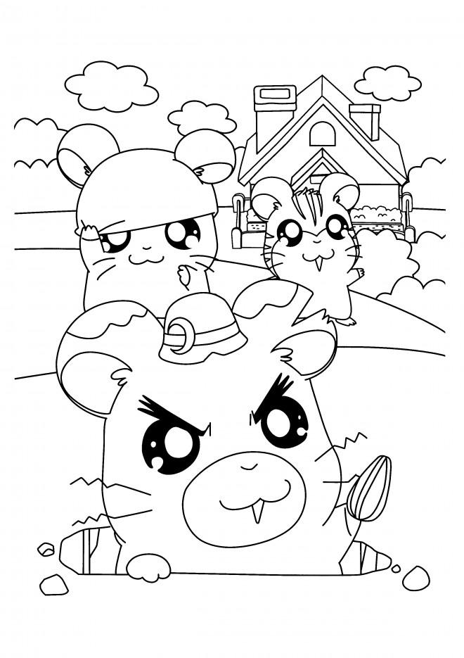 Coloriage et dessins gratuits Hamtaro 42 à imprimer