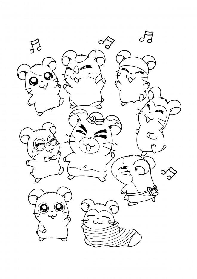 Coloriage et dessins gratuits Hamtaro 54 à imprimer