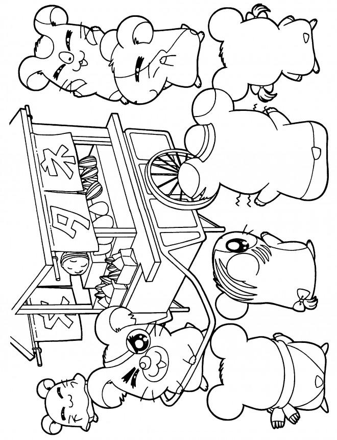 Coloriage et dessins gratuits Hamtaro à imprimer à imprimer