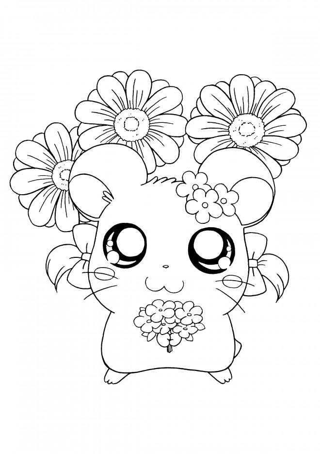 Coloriage et dessins gratuits Hamtaro Bijou à imprimer