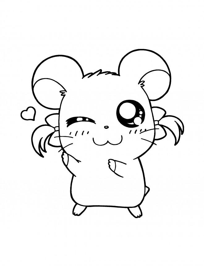 Coloriage et dessins gratuits Hamtaro Bijou gratuit à imprimer
