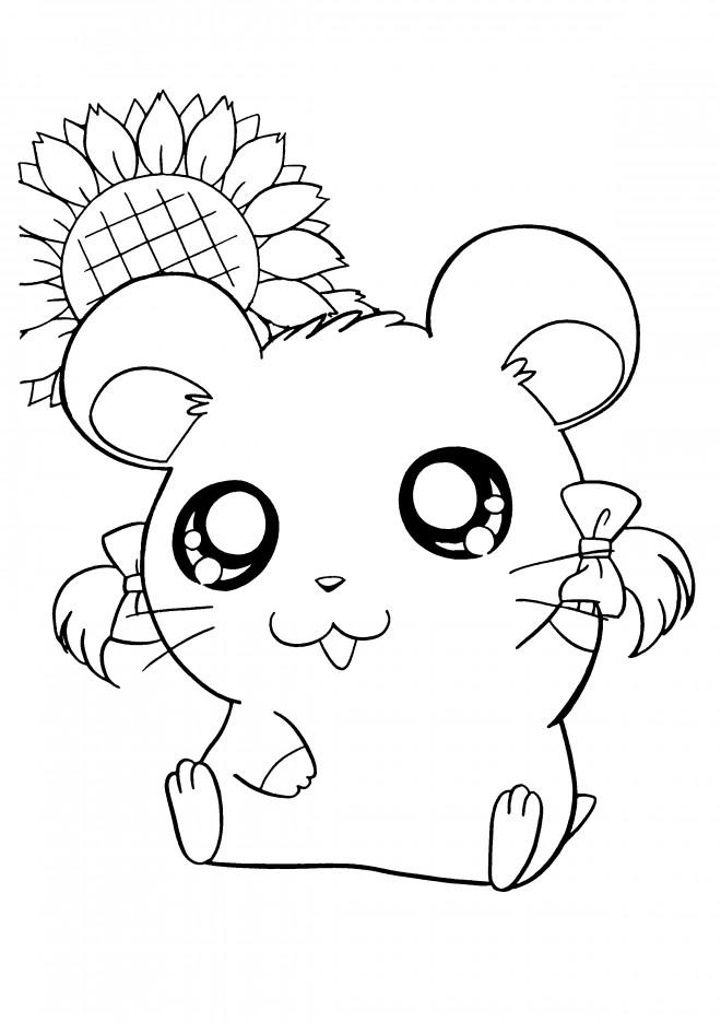 Coloriage et dessins gratuits Hamtaro BIjou la mignone à imprimer