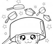 Coloriage Hamtaro cuisine