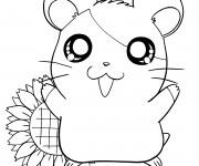 Coloriage Hamtaro dessin animé