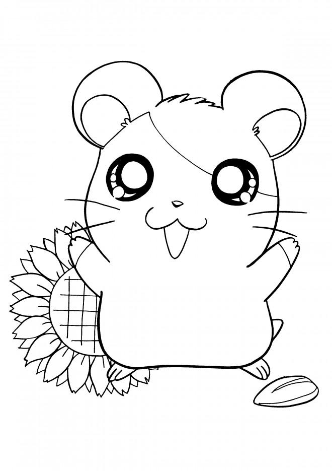 Coloriage et dessins gratuits Hamtaro dessin animé à imprimer