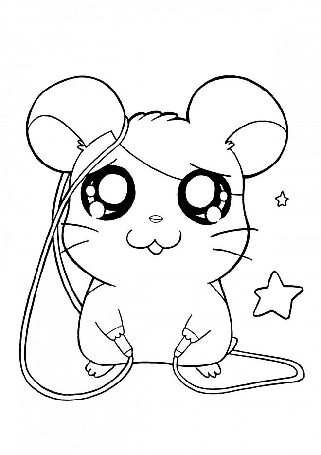 Coloriage et dessins gratuits Hamtaro en ligne à imprimer