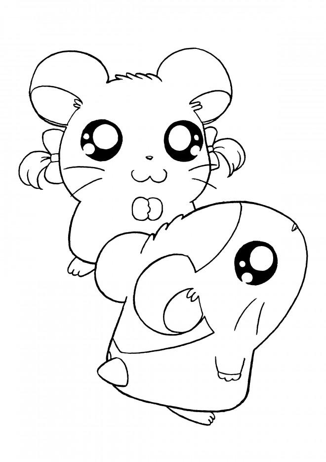 Coloriage et dessins gratuits Hamtaro et Bijou gratuit à imprimer à imprimer