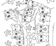 Coloriage et dessins gratuit Hamtaro et ses amis à imprimer