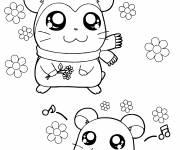Coloriage Hamtaro et son amie en ligne