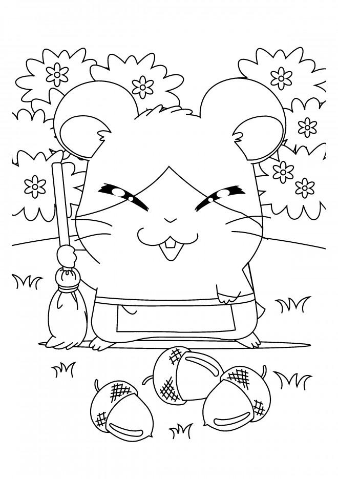 Coloriage et dessins gratuits Hamtaro facile à imprimer