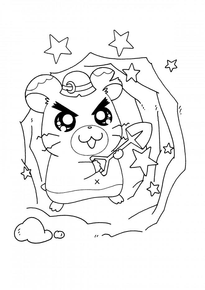 Coloriage et dessins gratuits Hamtaro Hamrial gratuit à imprimer