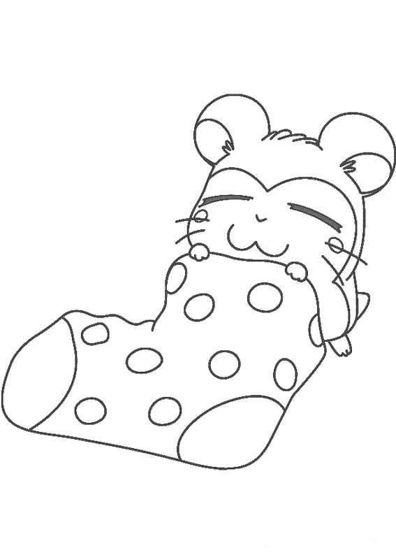 Coloriage et dessins gratuits Hamtaro Hamster au repos à imprimer