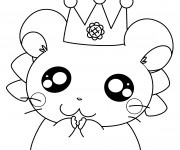 Coloriage Hamtaro Hamster facile
