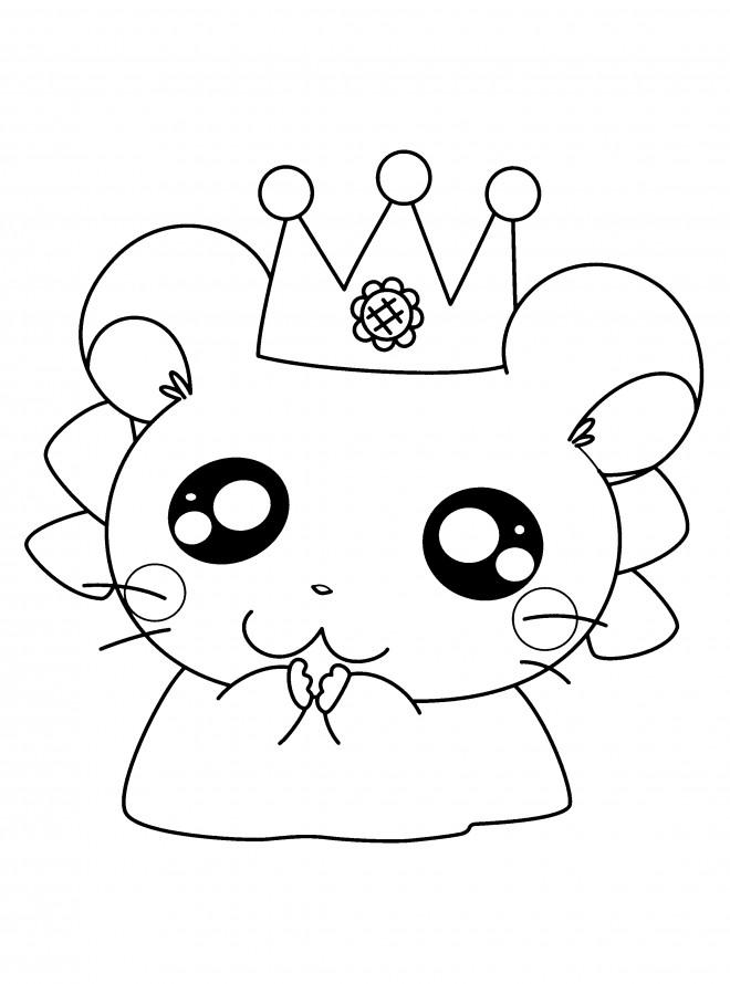 Coloriage hamtaro hamster facile dessin gratuit imprimer - Hamster gratuit ...