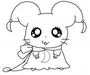 Coloriage Hamtaro Hamster mignon