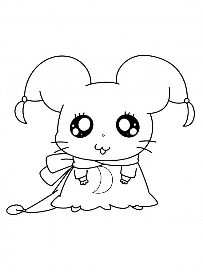 Coloriage et dessins gratuits Hamtaro Hamster mignon à imprimer