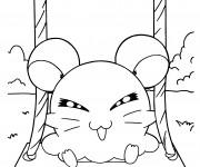 Coloriage Hamtaro Hamster Russe