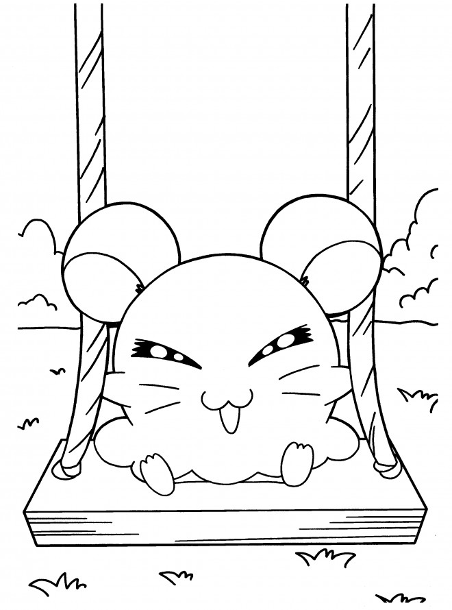 Coloriage hamtaro hamster russe dessin gratuit imprimer - Hamster dessin anime ...