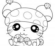 Coloriage Hamtaro l'adorable hamster