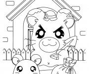 Coloriage Hamtaro: La maison des hamsters
