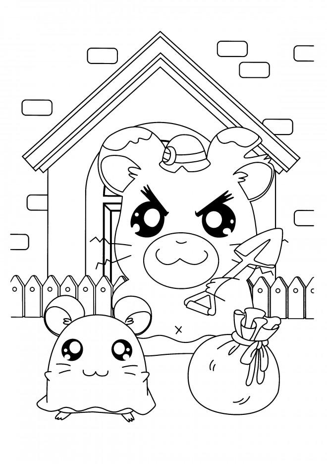 Coloriage et dessins gratuits Hamtaro: La maison des hamsters à imprimer