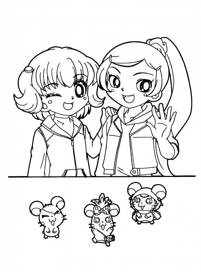 Coloriage et dessins gratuits Hamtaro Laura à imprimer