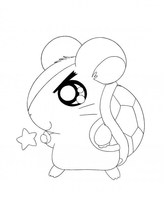Coloriage et dessins gratuits Hamtaro Le plus petit héro à imprimer