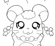 Coloriage Hamtaro simple à colorier