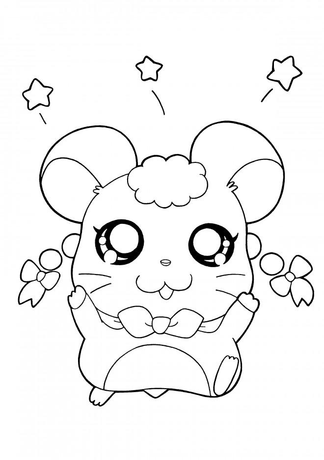 Coloriage et dessins gratuits Hamtaro simple à colorier à imprimer