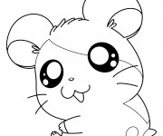 Coloriage Hamtaro sourit