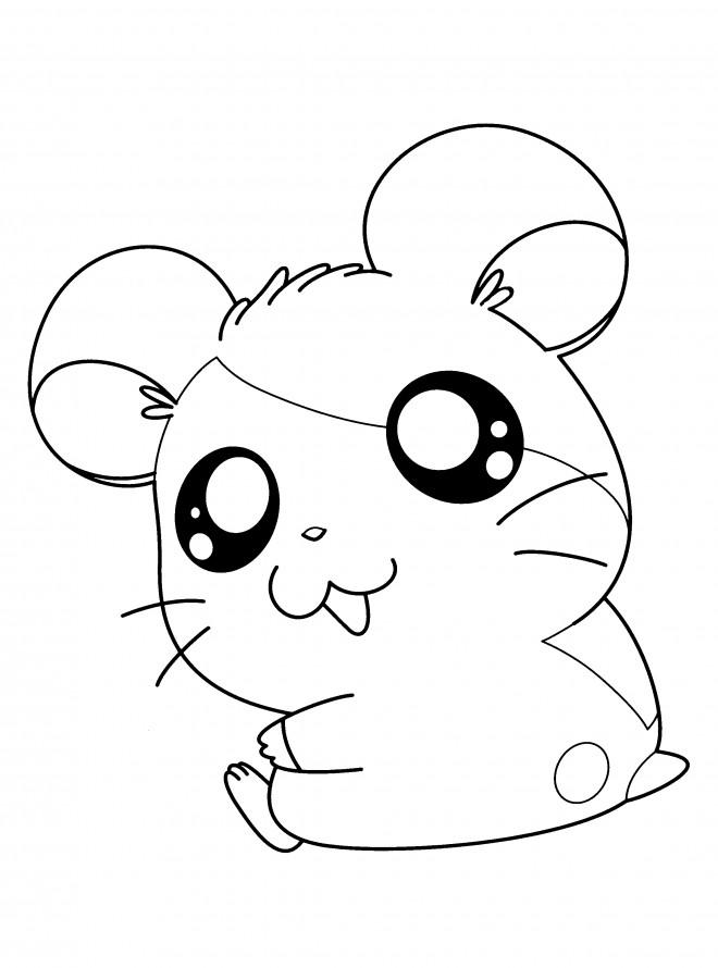 Coloriage et dessins gratuits Hamtaro sourit à imprimer