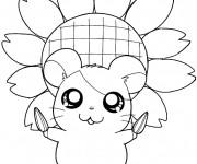 Coloriage et dessins gratuit Hamtaro tient des graines de tournesol à imprimer