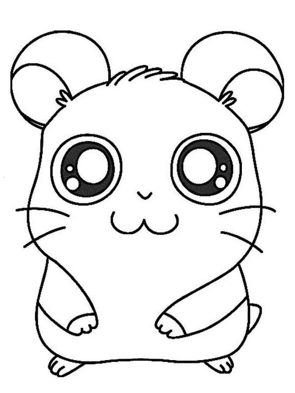 Coloriage et dessins gratuits L'adorable Hamtaro à imprimer