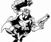 Coloriage et dessins gratuit Hellboy à l'attaque à imprimer