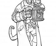 Coloriage et dessins gratuit Hellboy BD à imprimer